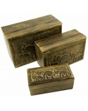 Elephant Wooden Boxes