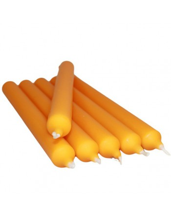 Bright Orange Dinner Candles