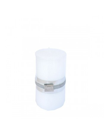 Finnmari Metallic Pillar Candle 7x10cm White