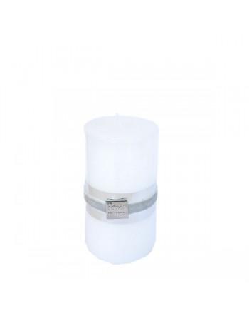 Finnmari Metallic Pillar Candle 7x10cm White