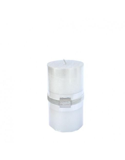 Finnmari Metallic Pillar Candle 7x10cm Silver