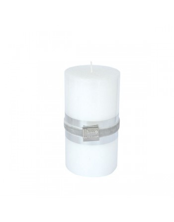 Finnmari Metallic Pillar Candle 7x15cm White