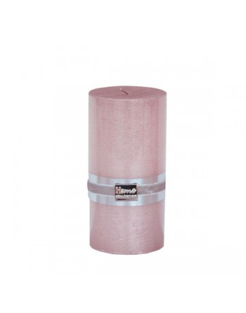 Finnmari Metallic Pillar Candle 7x15cm Pink