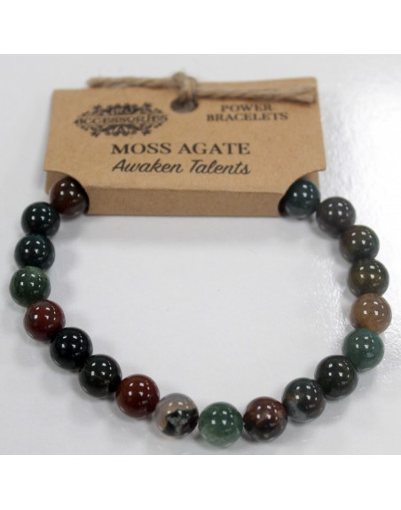 Moss Agate Power Bracelet