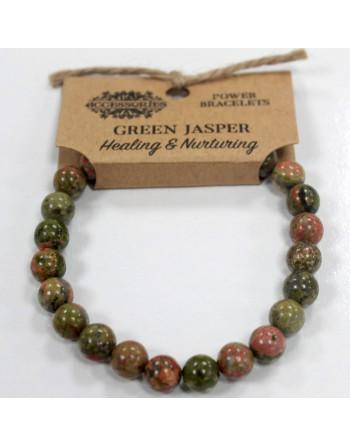 Grön Jaspis Armband