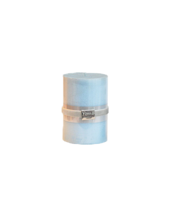 Finnmari Metallic Pillar Candle 7x10cm Light Blue