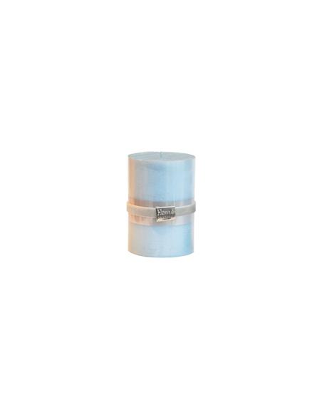 Finnmari Metallic Pillar Candle 7x10cm Light Blue