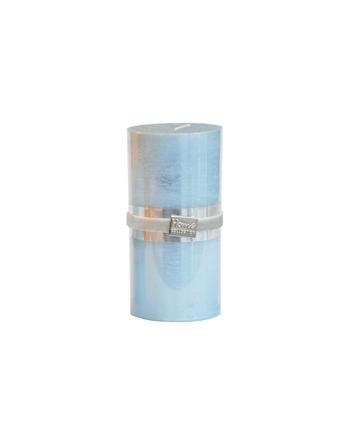 Finnmari Metallblockljus 7x15cm Ljusblå