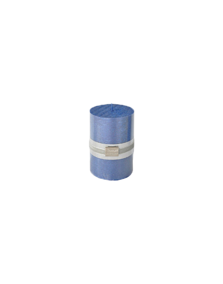 Finnmari Metallic Pillar Candle 7x10cm Dark Blue