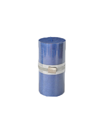 Finnmari Metallic Pillar Candle 7x15cm Dark Blue