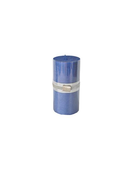 Finnmari Metallic Pillar Candle 7x15cm Dark Blue
