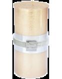 Finnmari Metallic Pillar Candle 7x15cm Gold