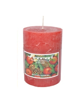 Finnmari christmas scented candle in red