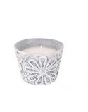 Finnmari Spetsljus i Keramikhållare