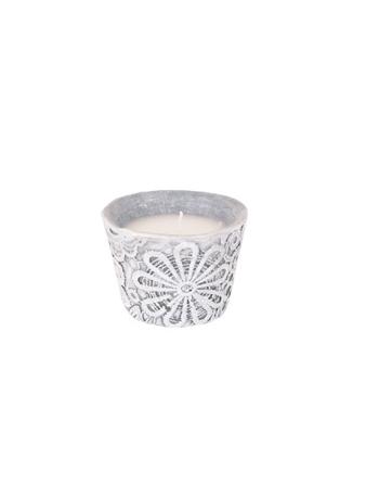 Finnmari lace candle Ceramic