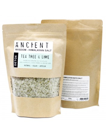 Natural Tea Tree & Lime Himalayan Bath Salt