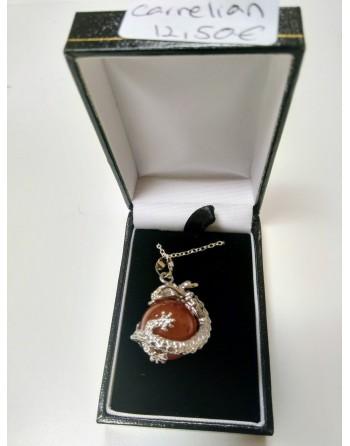 Carnelian Dragon Necklace