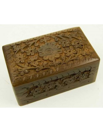 Wooden Box With Flowers