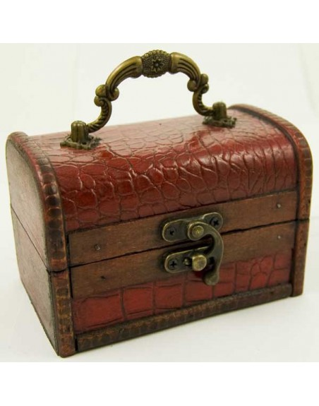 Wooden Chest Box Red