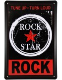 Rock Star Metal Plaque