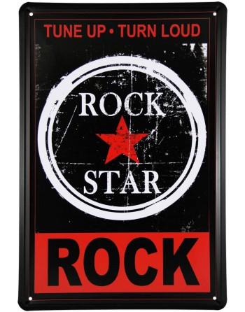 Rock Star Metallskylt