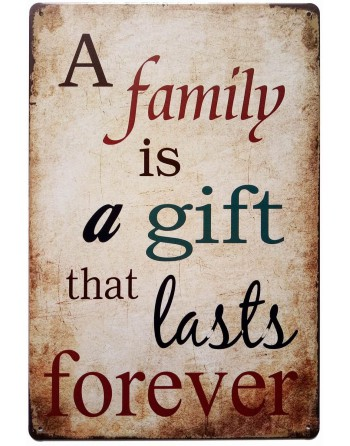 A Family is a Gift Metal Plaque