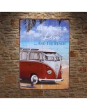 All you need is Love and the Beach Metal Plaque