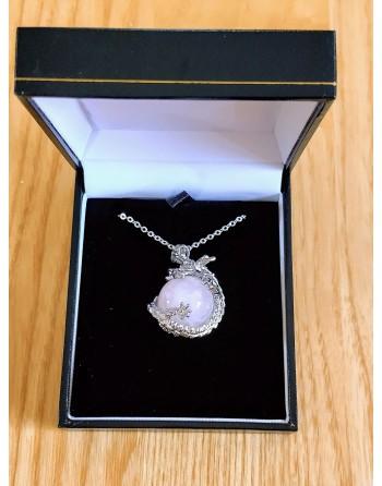 Rose Quartz Dragon Necklace