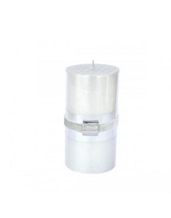 Finnmari Metallic Pillar Candle 7x15cm Silver