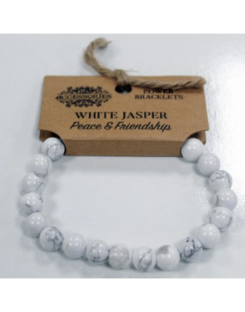 Vit Jaspis Armband