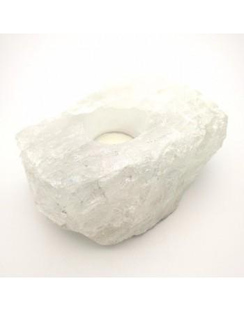 clear quartz candle holder